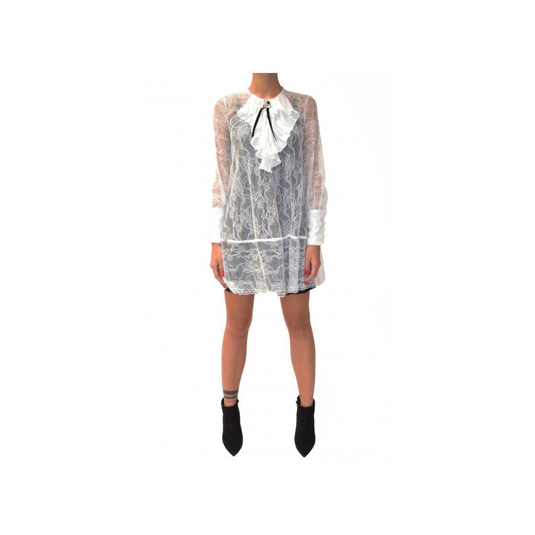 GIL SANTUCCI čiernobiele šaty s čipkou 997ddc67880