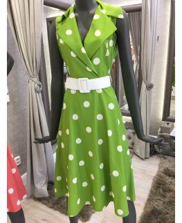 517e332217c7 Nové RINASCIMENTO šaty s bodkami zelené