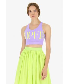 IMPERIAL crop top sport lila